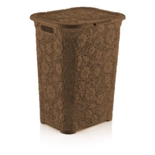 Superior Performance Brand Lace Laundry Hamper; Brown