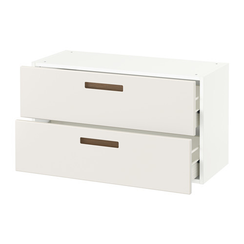 SEKTION Wall cabinet with 2 drawers, white Maximera, Ringhult white