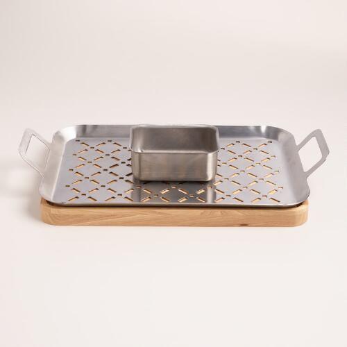 BBQ Grill Fondue Set, 3 Piece