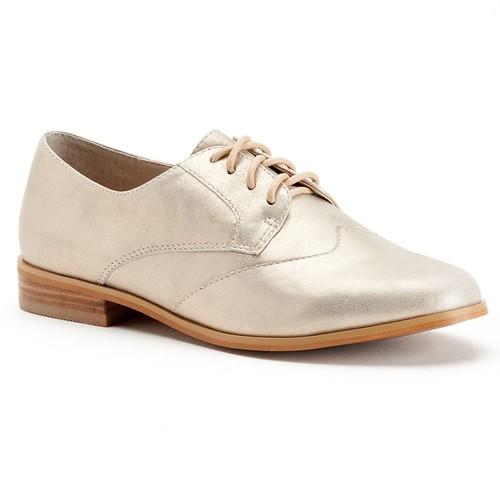 ShoeMint Kody Women's Casual Suede Oxford Shoes