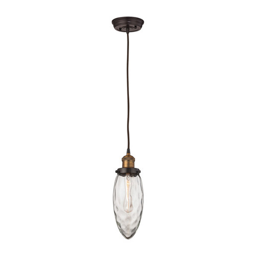 Elk Owen 1-light LED Pendant in Oil Rubbed Bronze and Antique Brass