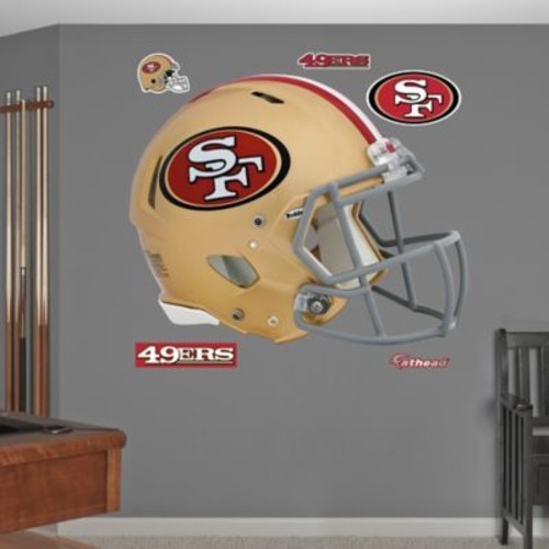 Fathead NFL San Francisco 49ers Revolution Helmet Wall Graphic