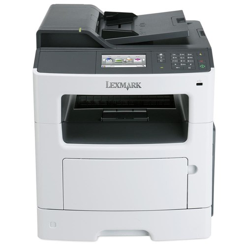 Lexmark MX410DE Laser Multifunction Printer - Monochrome - Plain Paper Print - Desktop - Copier/Fax/Printer/Scanner - 38 ppm Mono Print - 1200 x 1200 dpi Print - 38 cpm Mono Copy - 4.3