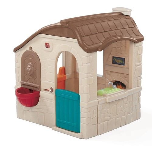 Step2 Naturally Playful Countryside Cottage Playhouse for Toddlers - Durable Backyard Children Play Tent
