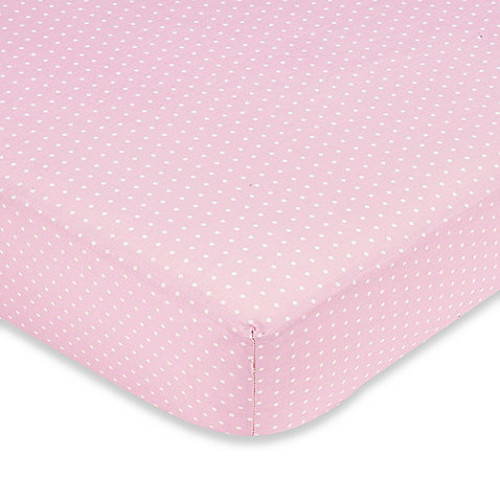 Sweet Jojo Designs Mod Dots Collection Crib Sheet in Pink