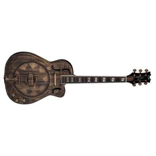 Dean Resonator Thin Body Cutaway Semi-Acoustic Guitar, Brass