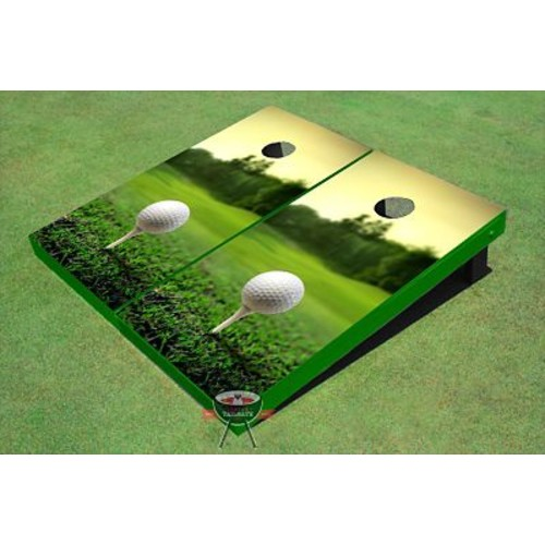 All American Tailgate Golf Tee Sunset Cornhole Board (Set of 2)