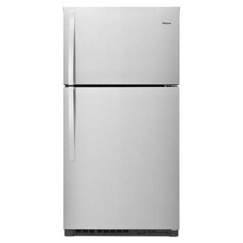 Whirlpool 33 in. W 21.3 cu. ft. Top Freezer Refrigerator in Fingerprint Resistant Stainless Steel