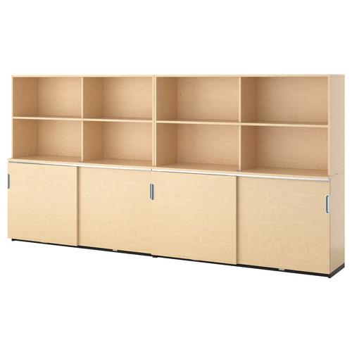 GALANT Storage combination w sliding doors, gray