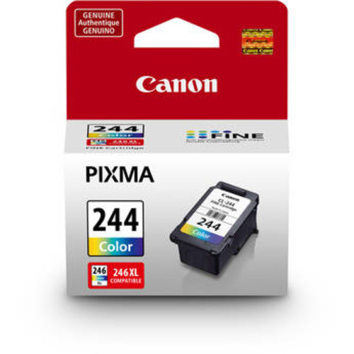 Canon CL-244 Color Ink Cartridge f/PIXMA MG & MX All-in-One Inkjet Printer 1288C001