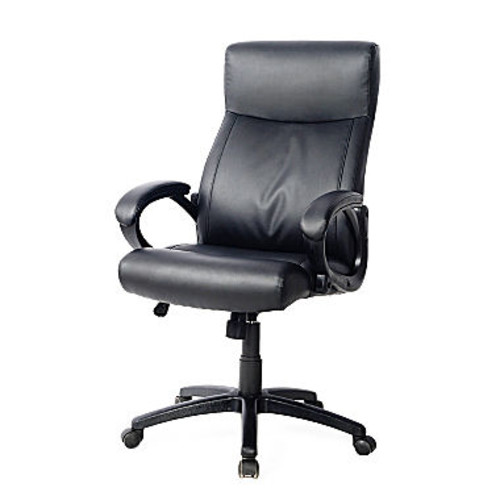 WORKSPACE FAUX-LEATHER MANAGERIAL OFFICE CHAIR