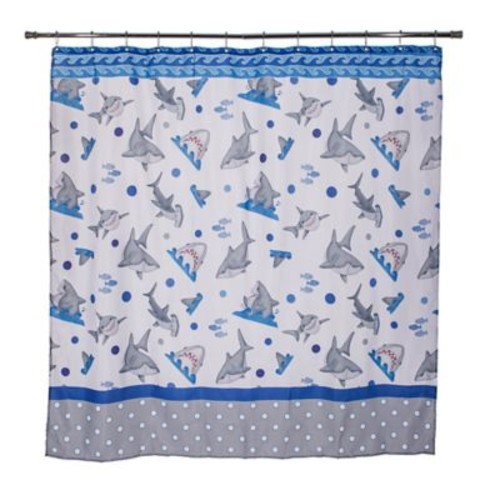 Zoomie Kids Justin Fish'n Sharks Mini Polka Dot Shower Curtain