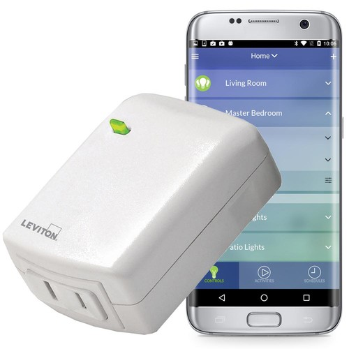 Leviton Decora Smart Wi-Fi Plug-In Dimmer, No Hub Required, Works with Amazon Alexa and Google Assistant