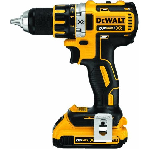 DEWALT 20-Volt MAX XR Lithium-Ion Cordless 1/2 in. Brushless Compact Drill/Driver Kit with (2) Batteries 2Ah, Charger and Case