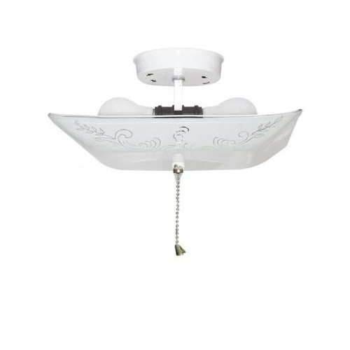 SUNLITE KL Square Classic White Glass Finish Ceiling Fixture