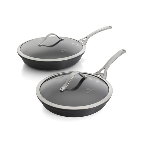 Calphalon Contemporary  Non-Stick 2-Piece Fry Pan Set with Lids