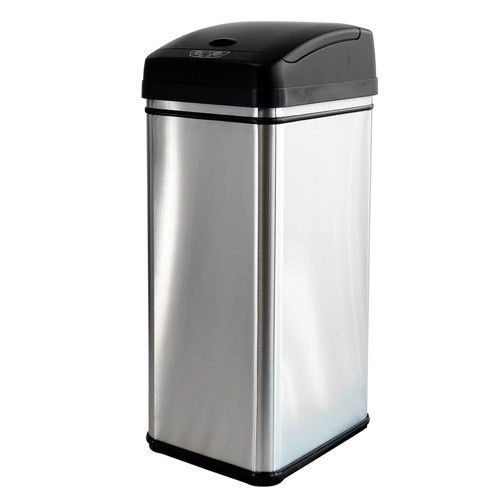 iTouchless 13-gallon Touchless Motion Stainless Steel Trash Can