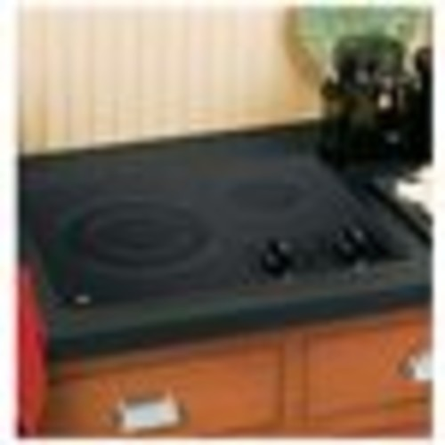 GE 21 in. Glass Ceramic Electric Cooktop in Black with 2 Elements