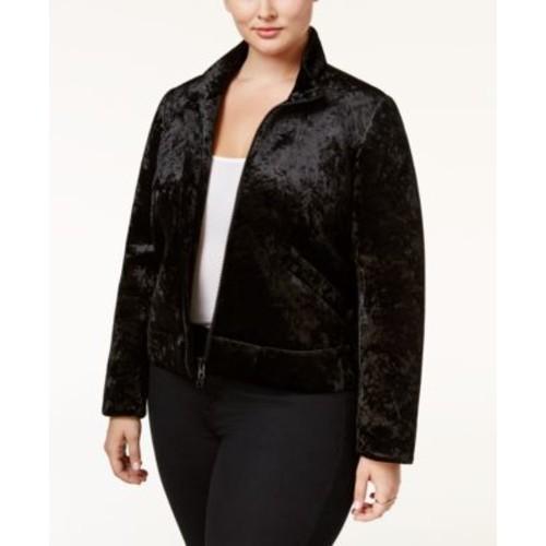 RACHEL Rachel Roy Trendy Plus Size Velvet Bomber Jacket