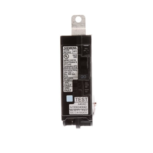 Siemens 20 Amp Single-Pole Circuit Breaker AFCI/GFCI
