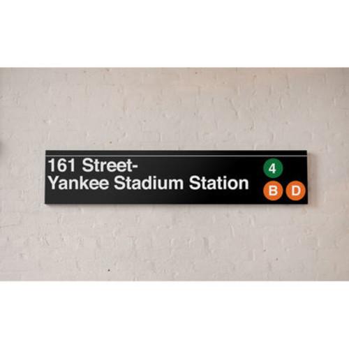 NYC MTA Metal Sign- Yankees Stadium 161 Street