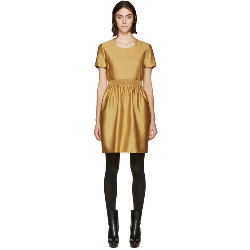 BURBERRY LONDON Yellow Emmeline Dress
