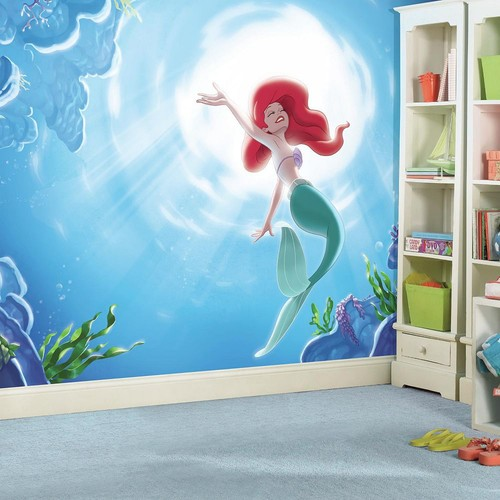 RoomMates 72 in. x 126 in. Disney Princess The Little Mermaid Part of your World XL Chair Rail 7-Panel Prepasted Mural