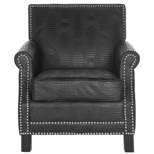 Safavieh Leandro Club Chair - Silver Nail Heads