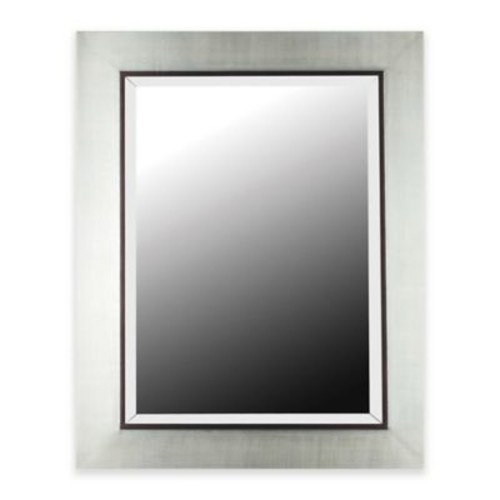 Kenroy Home Delores 30-Inch x 38-Inch Wall Mirror in Silver/Black