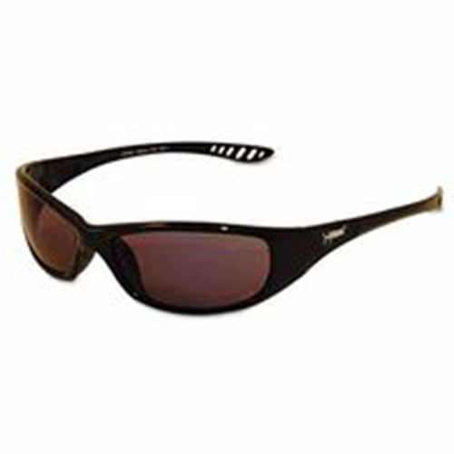 Jackson Safety* V40 HellRaiser Safety Glasses, Black Frame, Smoke Lens (KCC25714)