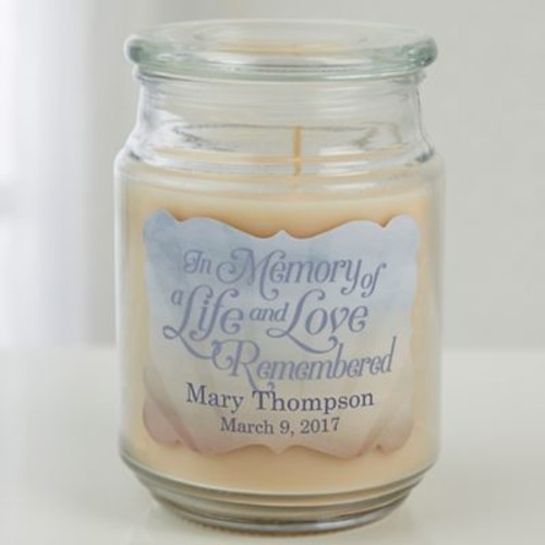 In Memory Scented Candle Jar