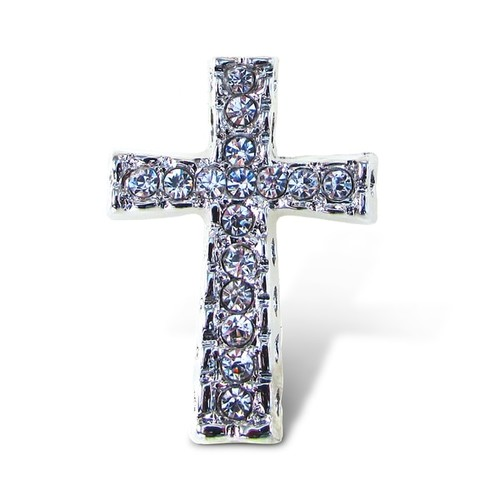Puzzled Cross Multicolor Metal Refrigerator Sparkling Magnets with Crystals