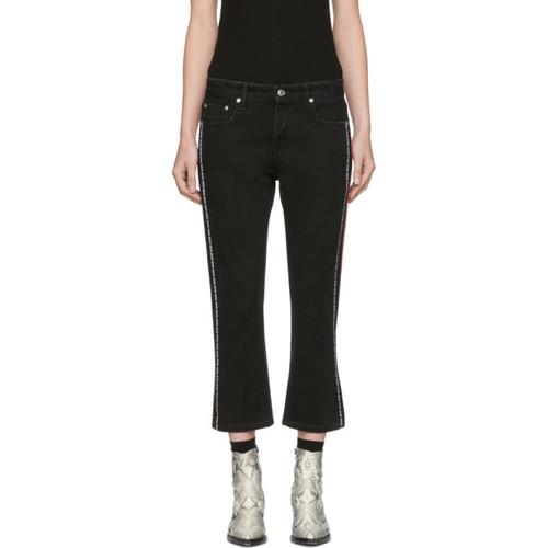 MSGM Black Logo Tape Jeans