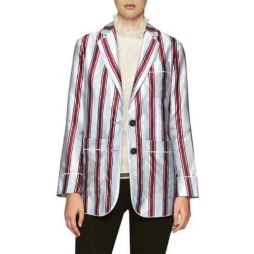 BURBERRY Cotton & Silk Striped Jacket