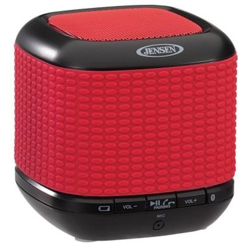 JENSEN Portable Rechargeable Bluetooth Wireless Speaker with NFC - Red