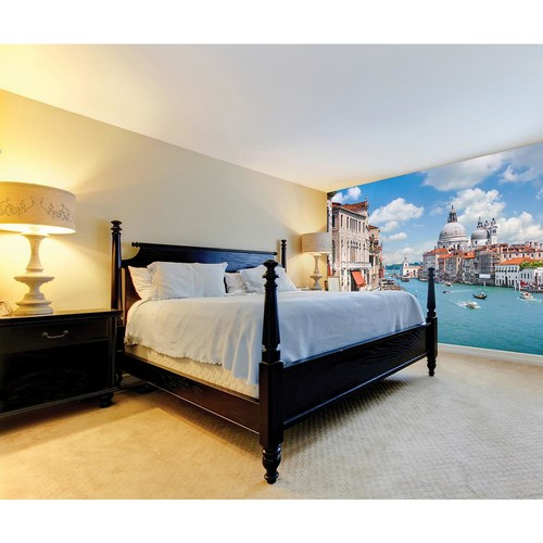 Brewster 118 in. x 98 in. Grand Canal Wall Mural