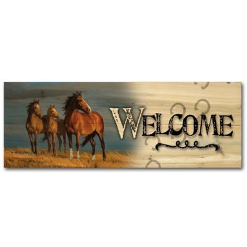 WGI GALLERY Welcome on Alert by Persis Clayton Weirs Graphic Plaque; 8'' H x 24'' W x 1'' D