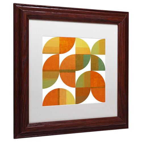 Michelle Calkins 'Four Suns Quartered 1.0' Matted Framed Art