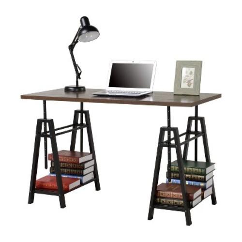 Adjustable Height Desk - Distressed Mocha - Homestar