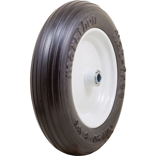 Marathon Tires Flat-Free Wheelbarrow Tire  3/4in. Bore, 3.50/2.508in.