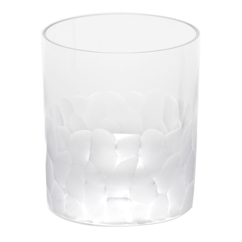 Pebbles Double Old Fashioned Glass in Various Colors design by Moser - Clear
