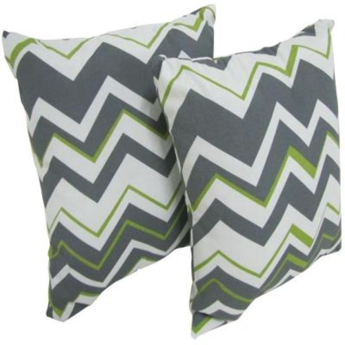 Arlington House Tempest Sterling Square Outdoor Throw Pillow (2-Pack)
