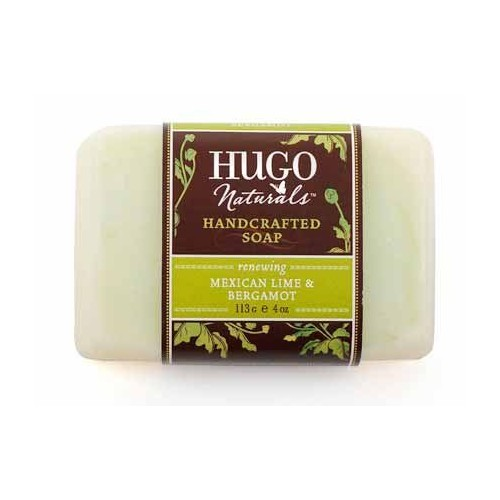Hugo Naturals Bar Soap, Mexican Lime and Bergamot, 4 Ounce Bar [Mexican Lime and Bergamot]