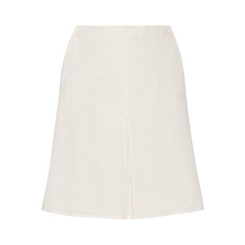 Brushed-cotton mini skirt