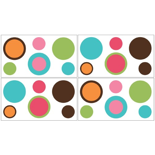 Sweet Jojo Designs Deco Dot Collection Wall Decal Stickers