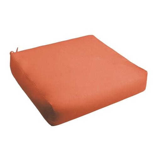 Sloane Mandarin Orange Indoor/ Outdoor Square Cushion