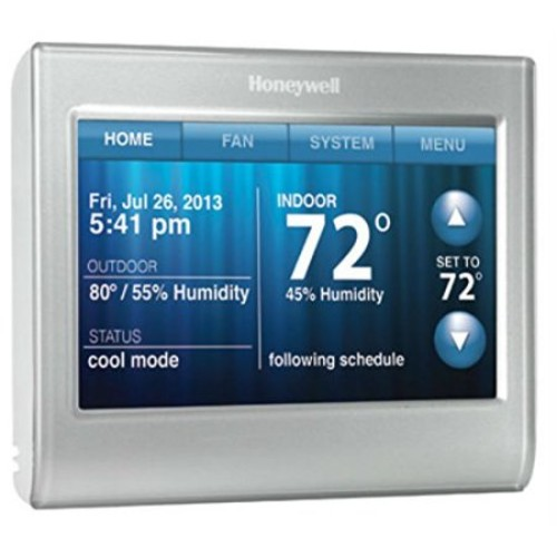 Honeywell RTH9580WF Wi-Fi Smart Touchscreen Thermostat Silver