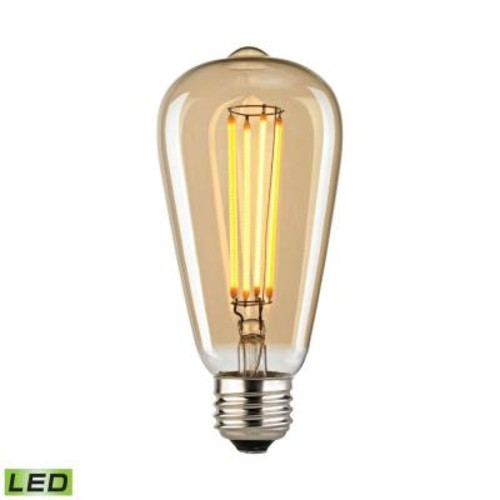 Titan Lighting Filament Medium LED Bulb With Light Gold Tint