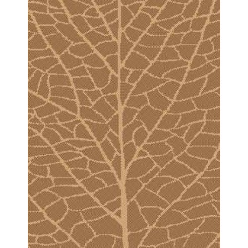 lava Brown/Natural Indoor/Outdoor Reversible Area Rug; Round 7'10''