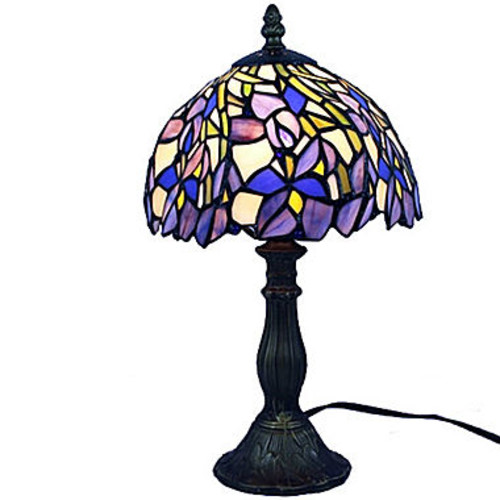Amora Lighting AM1076TL08 Tiffany Style Iris TableLamp 15 Inches Tall JCPenney